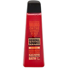 Original Source Bath Gel Habanero Chilli & Black Pepper Vegan Bath 500ml Bubble