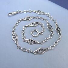 Fine Sterling Silver Pocket Watch Chain / Bracelet Antique