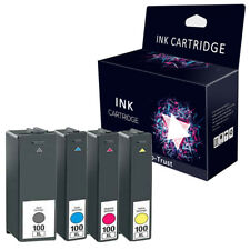 4 FST BRAND Ink Cartridges For Lexmark 100 XL S305 S405 S505 S605 Pro205 Pro705