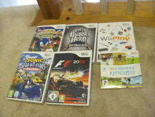 LOT OF 6 WII PAL GAME LOT WII SPORTS PLUS SONIC METALLICA + MORE