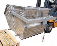 Schuttmulde AS1500 1,6 m³ Aluminium Krankübel Schuttkübel Kippmulde Kranmulde