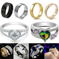Men Women Titanium Steel Band Wedding Ring /1 Pair Couple Ring Jewelry Hot sale