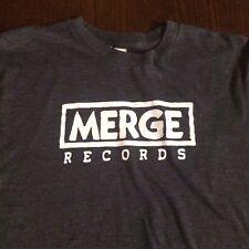 MERGE Records Logo Indie Rock Grey T-Shirt S SMALL 50/50 Emo Slowcore Shoegaze