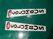 COLUMBUS fork decals. BLACK lettering on white.