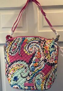 🌸 VERA BRADLEY Carson Hobo WILDFLOWER PAISLEY Shoulder Bag Purse Tote $88