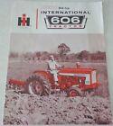 ORIGINAL 1966 Internationl 606 Tractor Sales Brochure - NOT A REPRINT!
