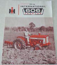 Original 1966 Internationl 606 Tractor Sales Brochure Not A Reprint