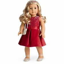 💕🎄American Girl Doll T'is the Season Party Dress Set NIB w/Blaire Catalogue💕
