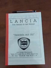 DEPLIANT BROCHURE LANCIA HOLZER DELTA INTEGRALE , DEDRA , TIPO TEDESCO 12 PAGINE