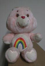 "Care Bear Plush 13"" Cheer Bear Vintage Plush 1983 Kenner Pink Rainbow"