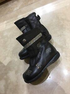 Bluemarine baby Swarovski Leather Boots