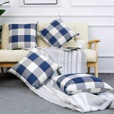 Set of 4 Farmhouse Buffalo Plaid Checker Cushion Throw Pillow Covers Home Decor