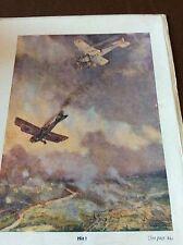 M5-7 ephemera  WW1 1918  book plate r a f dogfight