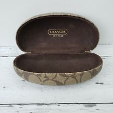 COACH Signature Monogram Brown Hard Clamshell Sunglasses Eye Glasses Case