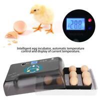 LED Uova di gallina Incubatrice per uccelli Incubazione automatica Controllo Set
