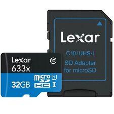 Scheda micro SD Lexar 32 GB UHS-I 633x Classe 10 + Adattatore SD - 2 pezzi