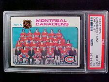 1975 Topps Hockey #90 Montreal Canadiens Team card.  PSA-10 GEM MINT