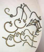 lot of 14 antique ornate 1800's gilt brass bronze gas wall sconce arms parts