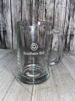 """Vintage SOUTHERN BELL TELEPHONE EMPLOYEE BEER DRINKING GLASS 12oz. 5.75"""""""