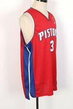 ADIDAS Detroit Pistons #3 Ben Wallace NBA Basketball Jersey Sewn Mens Size XXL