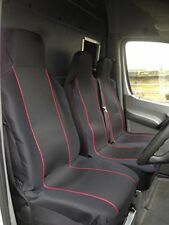 FORD TRANSIT (00-06) MK6 - HEAVY DUTY RED TRIM VAN SEAT COVERS - SINGLE + DOUBLE