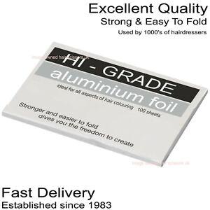 Foil Strips Hairdressing Colouring & Hi Lights 100 x Pre Cut SHORT Sheets