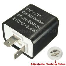 12V 2-PIN Speed LED Turn Signal LED Flasher Relay Fix Indicator Motorcycle Bike