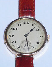 9ct GOLD GENTS WATCH LONDON 1928,SWISS 15 JEWEL MOVEMENT,KEEPS GOOD TIME