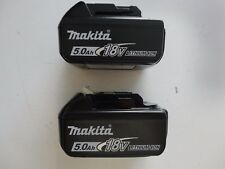 MAKITA BL1850B-2 18V 18 Volt Li-Ion 5.0 AH Battery packs New w/ Fuel BL1850B