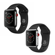 Reloj de Apple serie 3 42mm Gps Celular 4G LTE espacio de Plata de Acero Inoxidable Negro