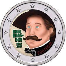 Portugal 2 Euro Münze Raul Brandao 2017 Gedenkmünze bankfrisch in Farbe