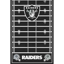 Oakland Raiders NFL Pro Football Sports Party Decoration Plastic Tablecover