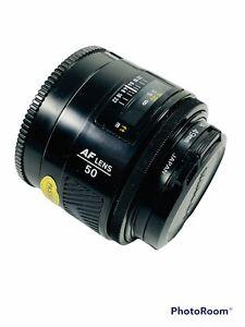 🔥 Minolta • AF 50mm • 1:1.4 (22) • Camera Lens • Leather Case • Japan