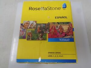 Rosetta Stone Spanish (Spain) Espanol Homeschool Levels 1-5 + Audio Companion