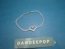 Rhinestone Heart Ankle Bracelet Jewelry