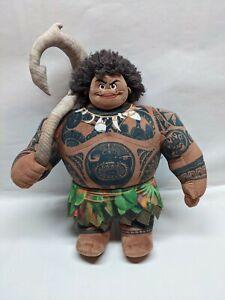 "Disney Demigod Maui From Moana- Plush Doll Stuffed Toy Animal 18"" Tall GC Disney"