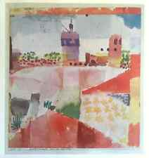 """PAUL KLEE VINTAGE 1967 AUTHENTIC LITHOGRAPH PRINT """" HAMMAMET WITH MOSQUE """" 1914"""