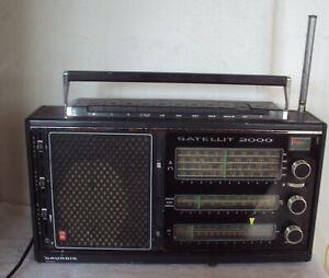 GRUNDIG SATELLIT 2000 Weltempfänger Transistorradio Kofferradio Funktioniert