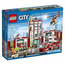 LEGO City Fire Station 60110 (919 Piece) - NEW     -     FREE FedEx Shipping