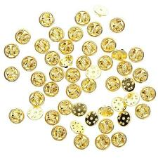 50Pcs Gold Silver Tie Tacks Blank Pins with Clutch Back 10mm Pad /8mm Post  #A