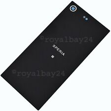 Sony Xperia Xz Premium Real Glass Rear Black Battery Cover+Adhesive Backcover