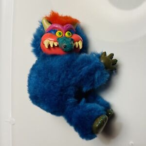 Vintage 1986 My Pet Monster AmToy Topper Hugger Clip On Plush