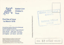 Flown PHQ Card Carried From London Gatwick to Edinburgh by BCA 1 March 1978