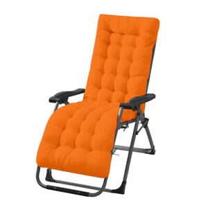 Foldable Recliner Chair Pad Rocking Chair Pad Soft Double-sided Lounger Cushion