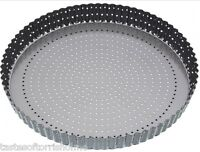Masterclass Perforated Loose Base Fluted Crusty Bake Non Stick Quiche Tart Tin