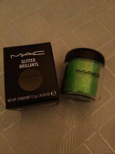 """MAC Eyeshadow Glitter Brillants  """"CRYSTALLED LIME"""" 7.5g/.26oz"""
