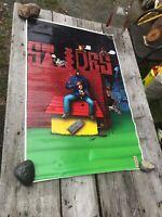 """1994 St. Ides Malt Liquor Brewing Snoop Dogg Poster Rare Unused Vtg 34"""" Cartoon"""