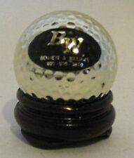 Bw Bennett & Williams Golden Golf Ball w/ Wooden Display Stand - Executive Gift?