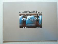 Prospekt Mercedes-Benz Industrie-Dieselmotoren, 5.1986, 20 Seiten