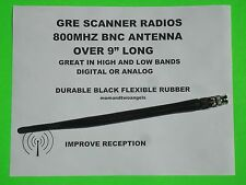 BNC FOR GRE SCANNER RADIOS UPGRADE ANTENNA LONG 800 MHZ ANY BNC  RADIO DIGITAL